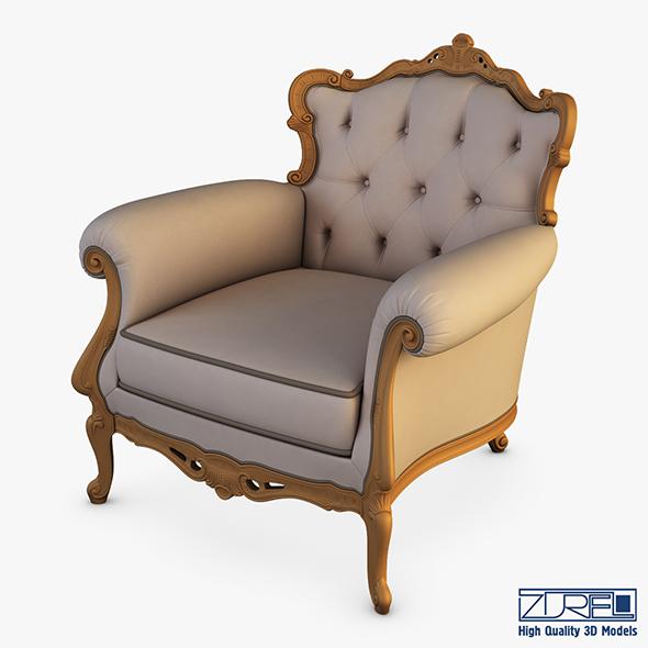 Angelo Cappellini Austen Armchair - 3DOcean Item for Sale