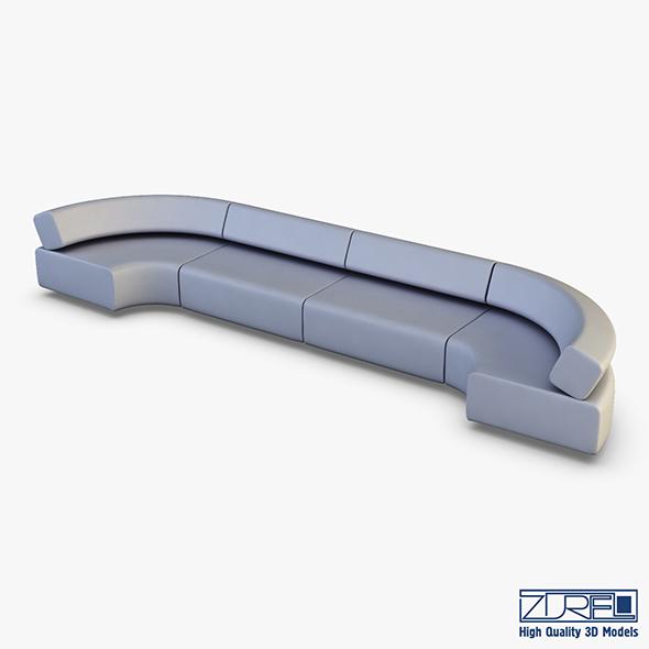 Atollo Sofa v 2 - 3DOcean Item for Sale