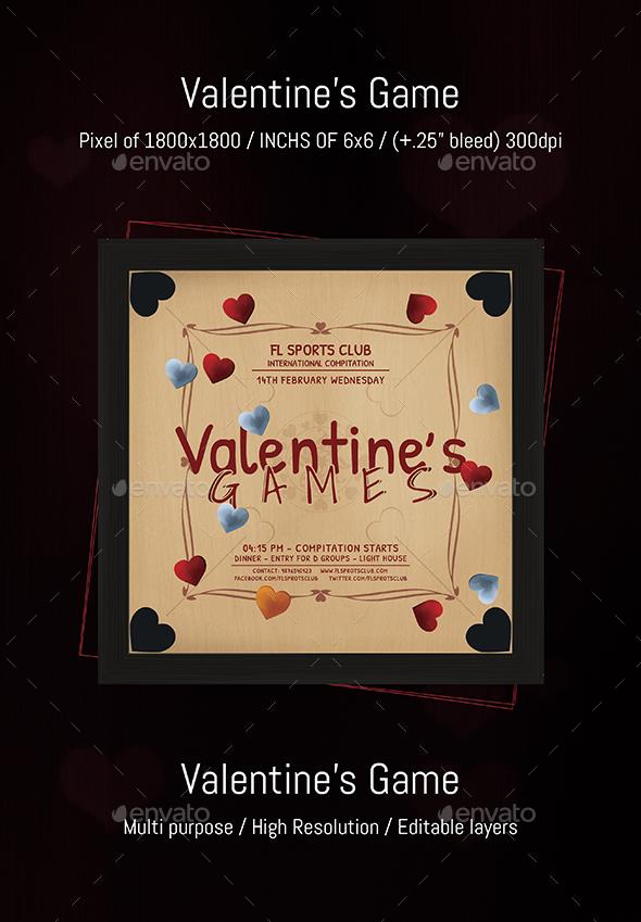 Valentine Games - Print Templates