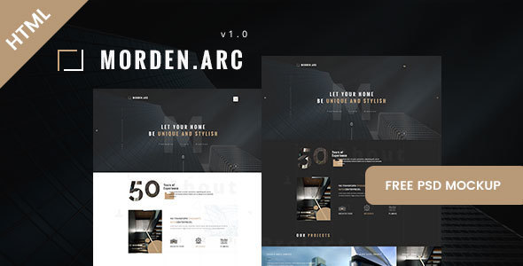 Image of morden.arc - Architecture and Interior HTML Template