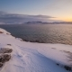 Sunset on the Snow-covered Shore of the Barents Sea - VideoHive Item for Sale