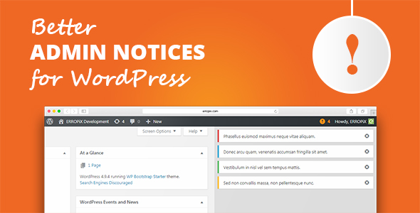 Better Admin Notices for WordPress - CodeCanyon Item for Sale