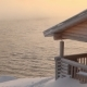 Wooden Cottage on the Winter Seashore at Dawn - VideoHive Item for Sale