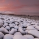 Sunset on the Snow-covered Beach of the Barents Sea - VideoHive Item for Sale