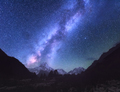 Space. Milky Way. Scene with himalayan mountains - PhotoDune Item for Sale