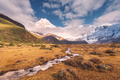 landscape with mountains with snow covered peaks - PhotoDune Item for Sale