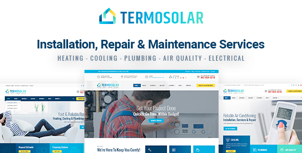 Termosolar - Installation, Repair & Maintenance Services HTML Template