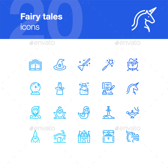 20 Fairy Tales Icons - Miscellaneous Icons