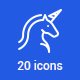 20 Fairy Tales Icons