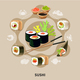 Flat Sushi Composition