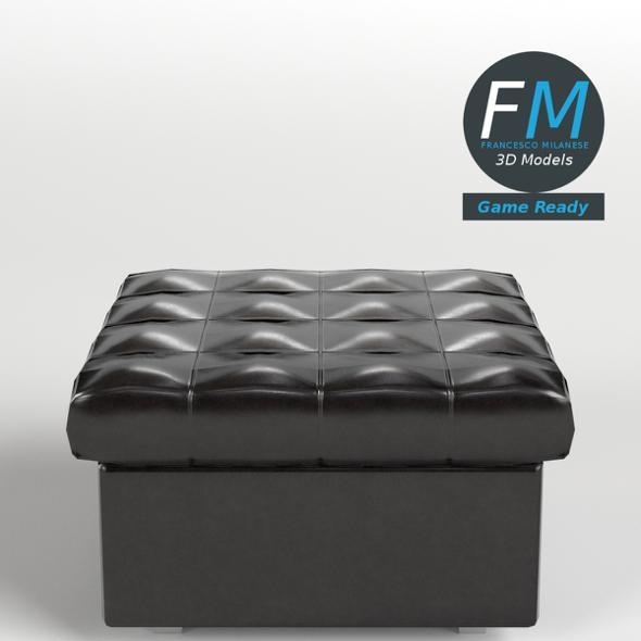 Leather Pouf Sofa GR - 3DOcean Item for Sale