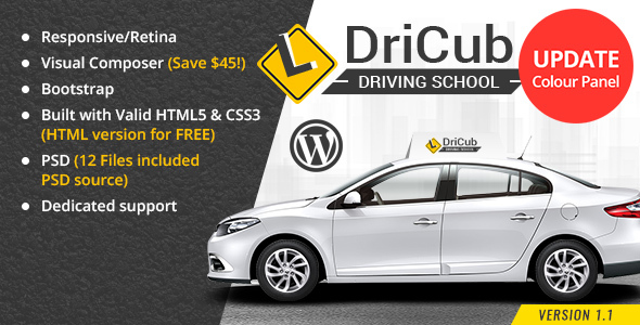 DriCub - Driving School WordPress Theme