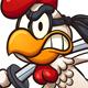 Cartoon Ninja Chicken