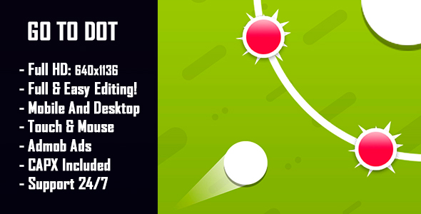 Go To Dot - HTML5 Game + Mobile Version! (Construct-2 CAPX) - CodeCanyon Item for Sale