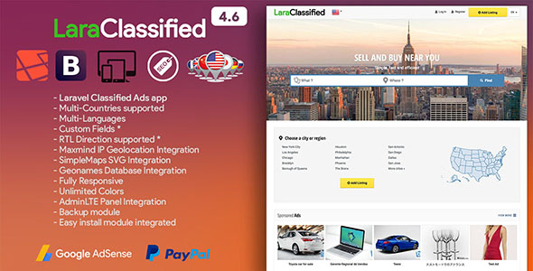 LaraClassified - Geo Classified Ads CMS - CodeCanyon Item for Sale