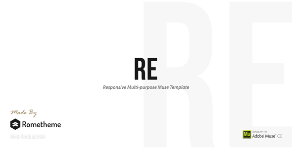 RE - Multi-purpose Responsive Muse Templates - Muse Templates