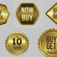 Gold Badges / Label - GraphicRiver Item for Sale