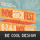 Indierock Festival Flyer/Poster - GraphicRiver Item for Sale