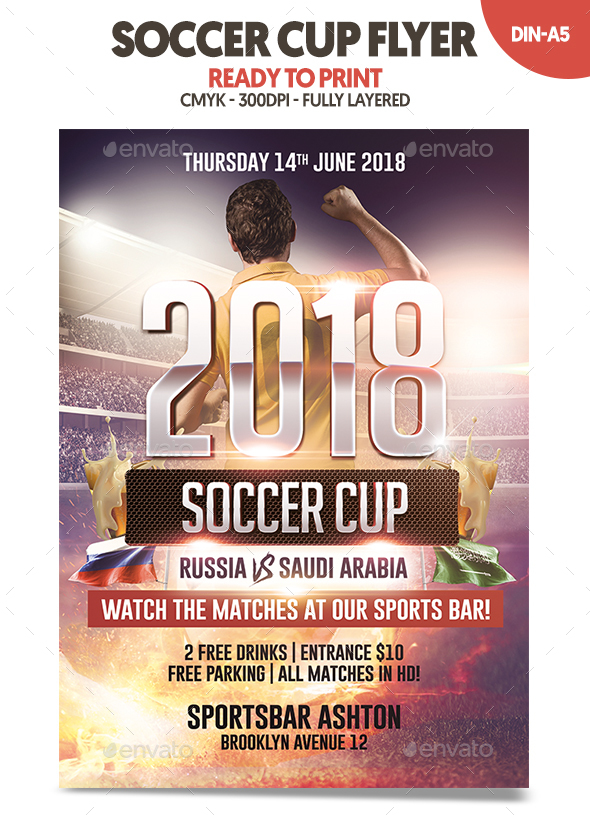 Soccer Cup 2018 Flyer - Sports Events