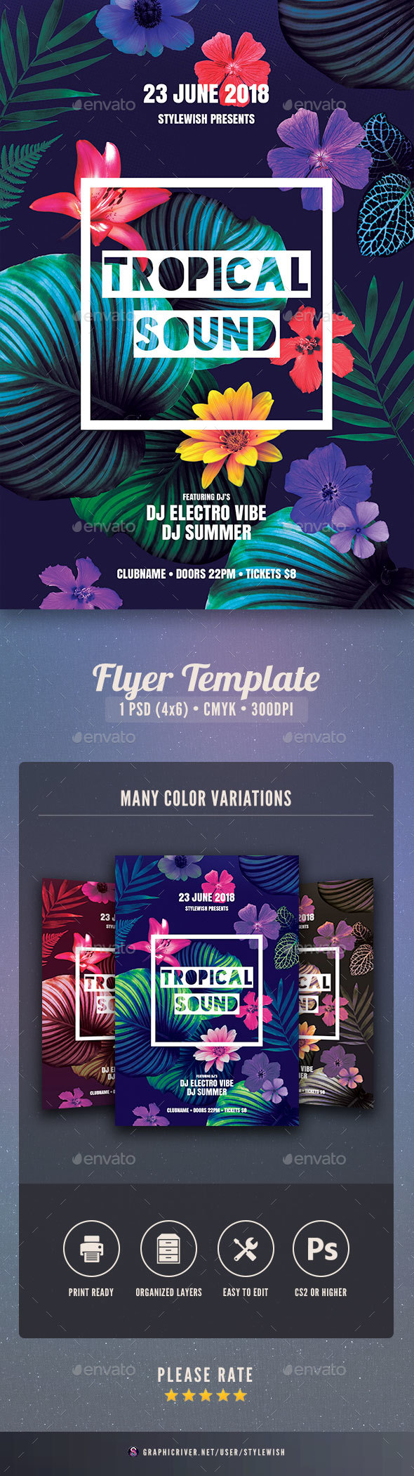 Tropical Sound Flyer - Clubs & Parties Events