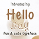 Hello Day - Fun and Cute Font - GraphicRiver Item for Sale