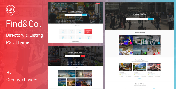 FindGo - Directory & Listing PSD Template - Corporate PSD Templates