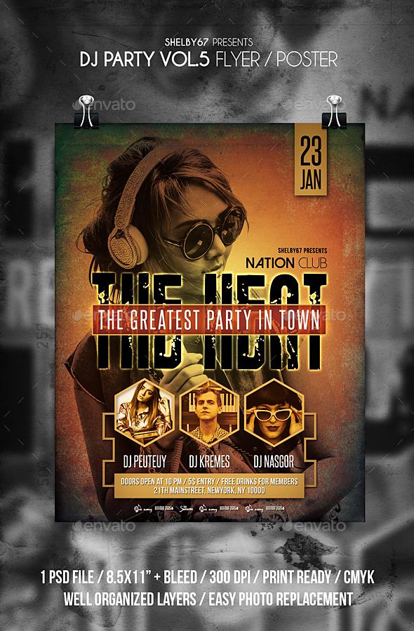 DJ Party Flyer Vol 5 - Clubs & Parties Events
