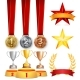 Trophy Awards Cups, Golden Laurel Wreath With Red