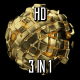 Golden Deformed Sphere - VideoHive Item for Sale