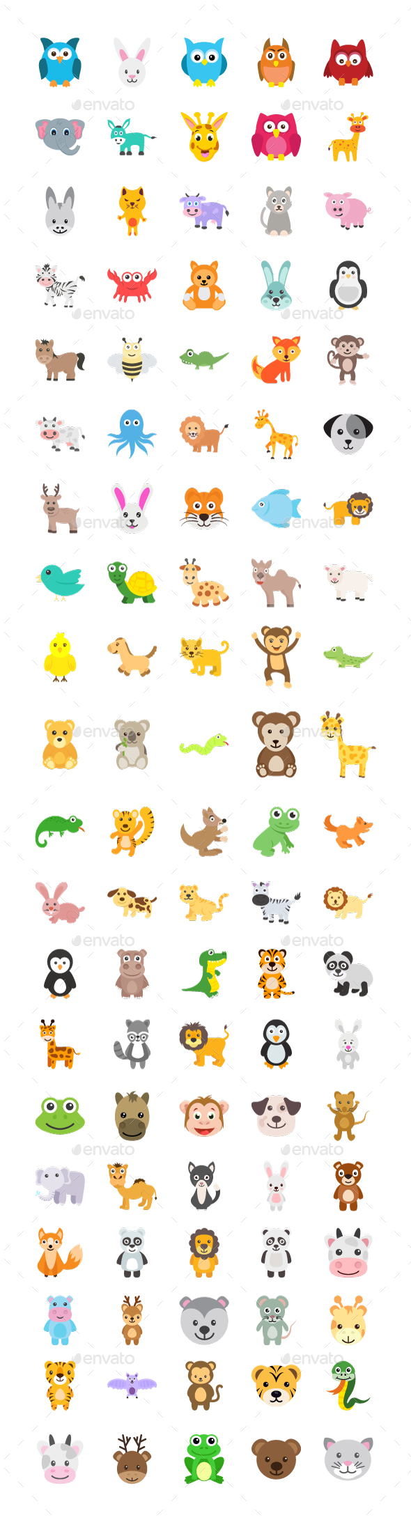 100 Cute Animals Icons - Icons