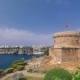 Hidirlik Tower in Kas Town in Antalya with View of Harbor Marine Bay - VideoHive Item for Sale