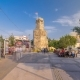 Clock Tower in the Historic Part of Antalya Kaleici  Hyperlapse, Turkey. Old Town of Antalya Is - VideoHive Item for Sale