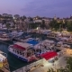 "Aerial View of Yacht Harbor and Red House Roofs in ""Old Town"" Day To Night  Antalya, Turkey. - VideoHive Item for Sale"