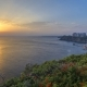 Seascape  of High Mountains Over Clear Sunset Sky in Antalya, Turkey - VideoHive Item for Sale