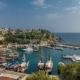 """Aerial View of Yacht Harbor and Red House Roofs in """"Old Town""""  Antalya, Turkey. - VideoHive Item for Sale"""