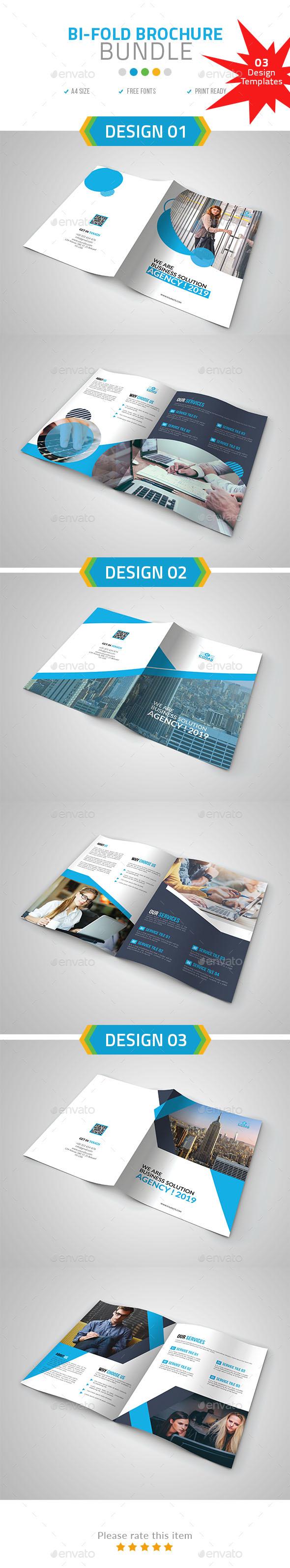 A4 Bi-Fold Brochure Bundle set 01 - Corporate Brochures