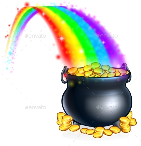 Pot of Gold at the End of the Rainbow - Seasons/Holidays Conceptual
