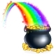 Pot of Gold at the End of the Rainbow - GraphicRiver Item for Sale
