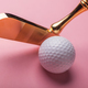 luxury gold golf club and balls - PhotoDune Item for Sale