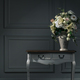 dark interior, table, vase with flowers - PhotoDune Item for Sale