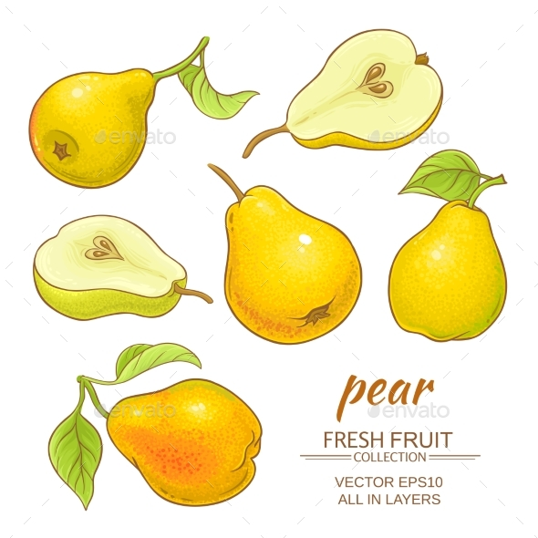 Pear Vector Set - Food Objects