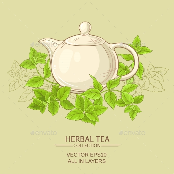 Peppermint Herbal Tea - Food Objects