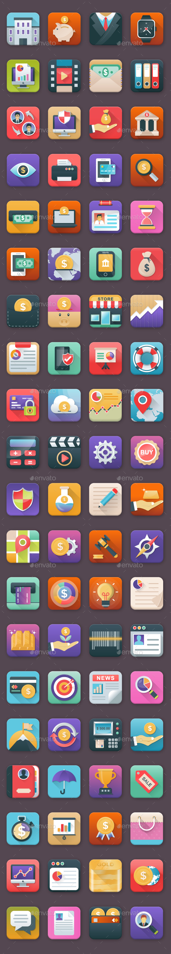 80 Finance App Icons - Icons