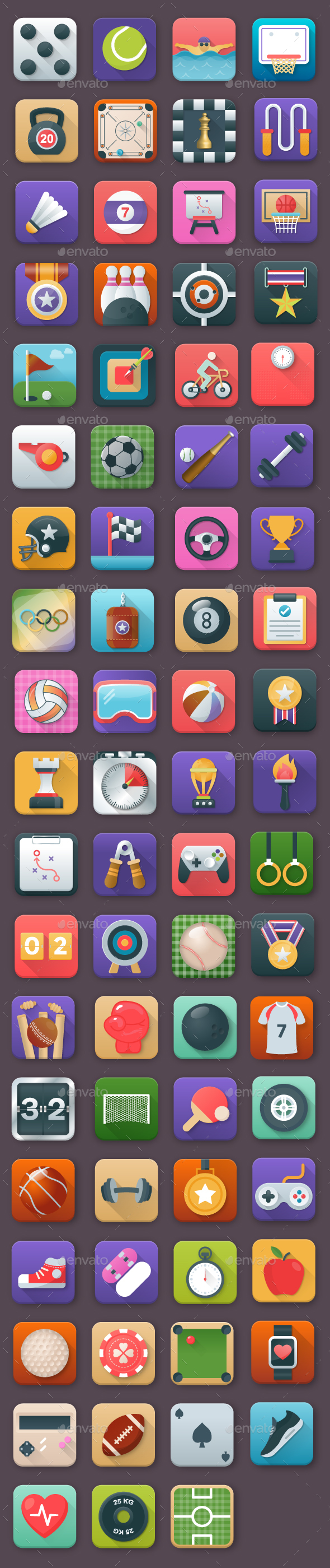 75 Sports App Icons - Icons