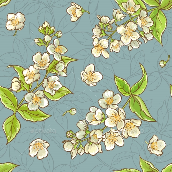 Jasmine Seamless Pattern - Nature Conceptual