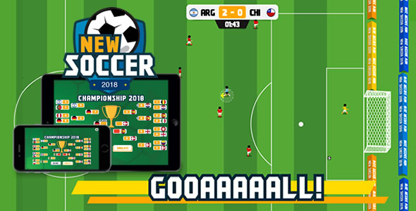 New Soccer - HTML5 Game - CodeCanyon Item for Sale