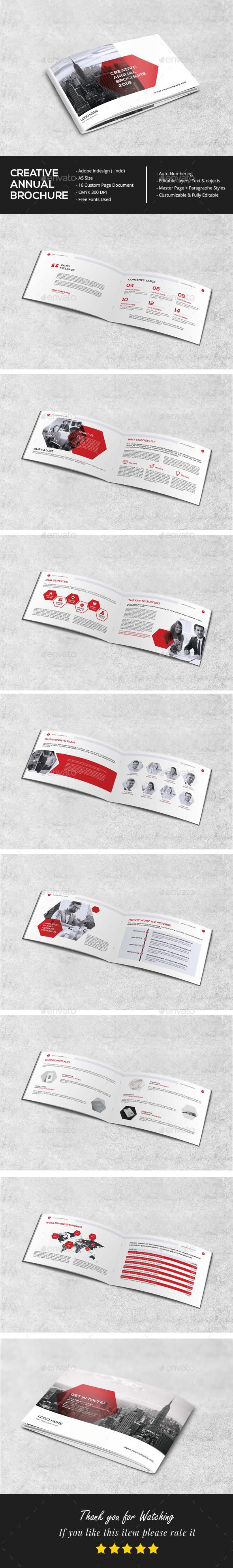 A5 Clean Annual Brochure - Brochures Print Templates