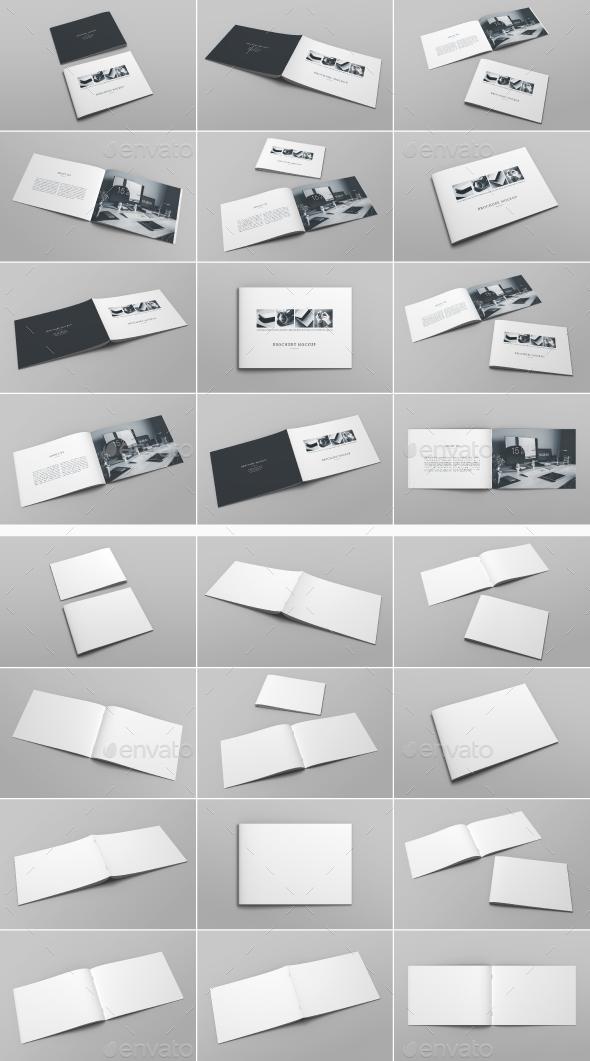 A4 Landscape Brochure Mockup - Brochures Print