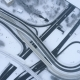 Freeway Intersection Snow-covered in Winter - VideoHive Item for Sale