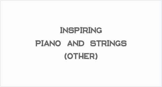Inspiring Piano and Strings (Other)